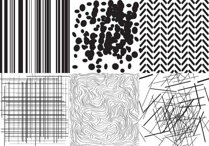 vector black and white textures